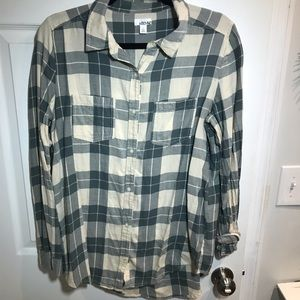 Abound (Nordstrom) green and cream flannel